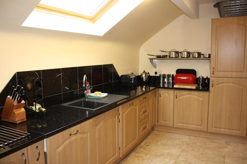 Galaxy granite work surface Dualit Toaster, Kettle & Expresso, Samsung Microwave, Oven & Hob