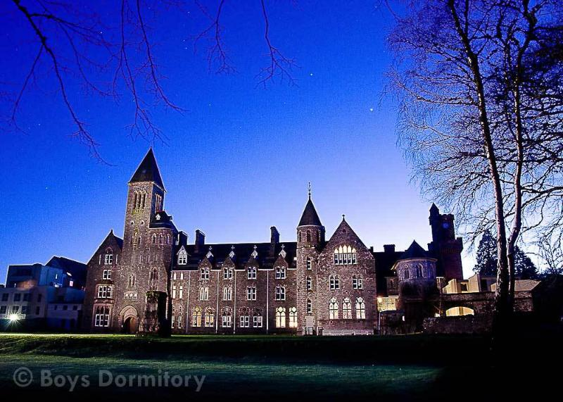 Fort Augustus Abbey at dusk