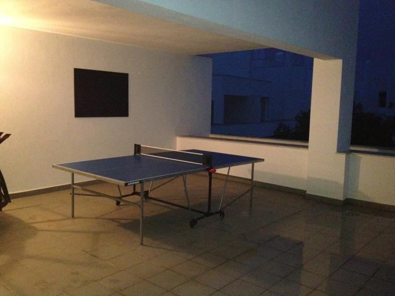 Table Tennis on the terrace!