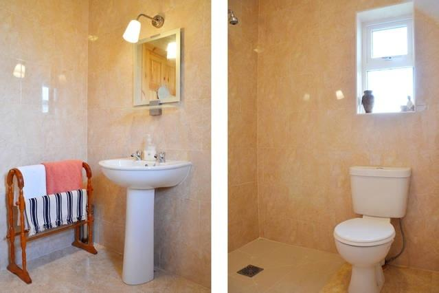 A wet room and two toilets