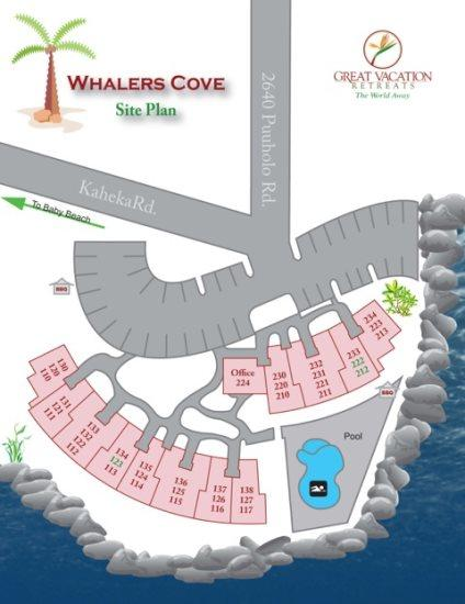 Site Plan for Whalers Cove