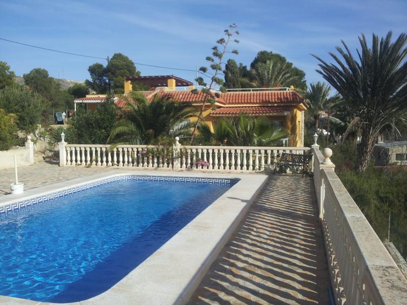 Villa from pool terrace