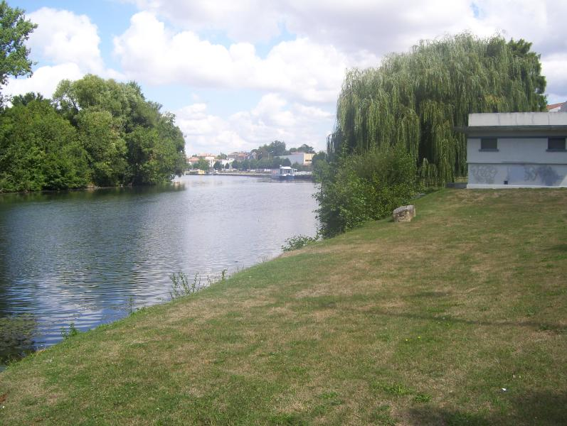 The river Charente at the lovely vibrant town of Angouleme