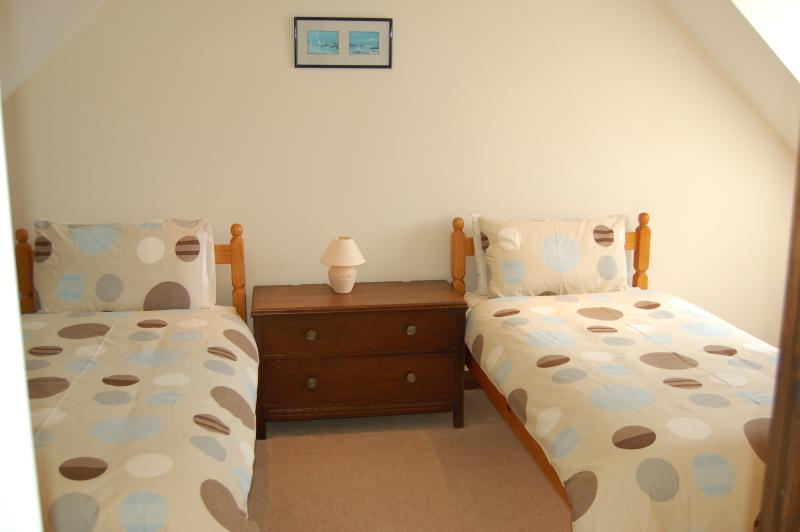 The Stables first floor twin bedroom