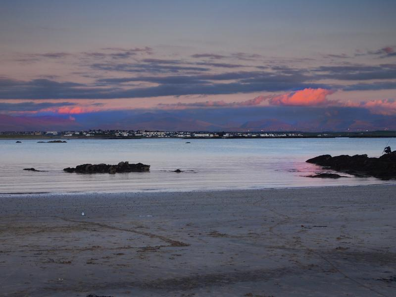 Silver Bay Beach at dusk