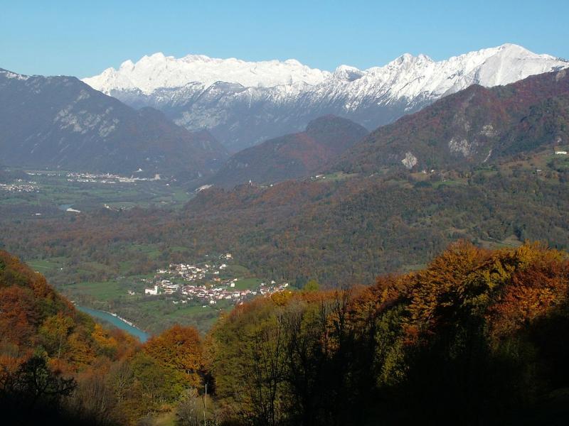 Kamno village in the Autumn
