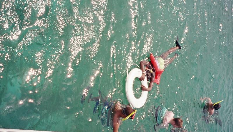 Snorkling offered on cruise to dunns river falls excursion