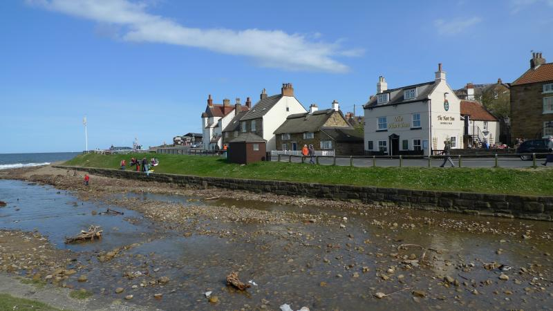 East Row seen from across the Beck (Sandsend)