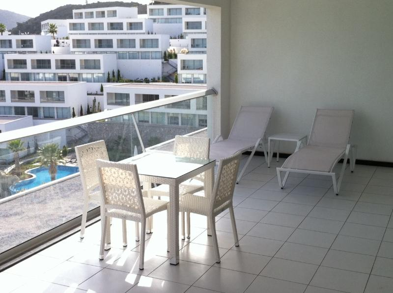 Spacious terrace with great views