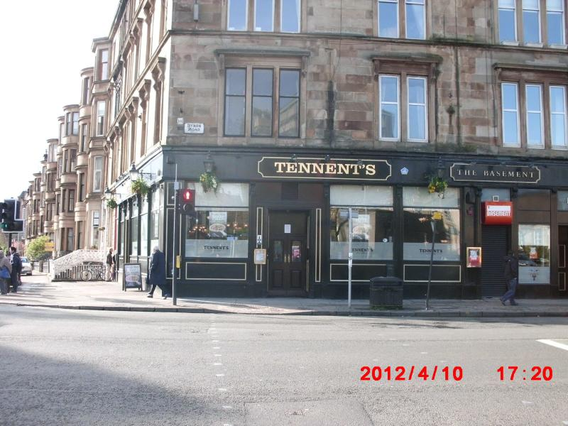 'The Tenement'; popular bar on Byres Road