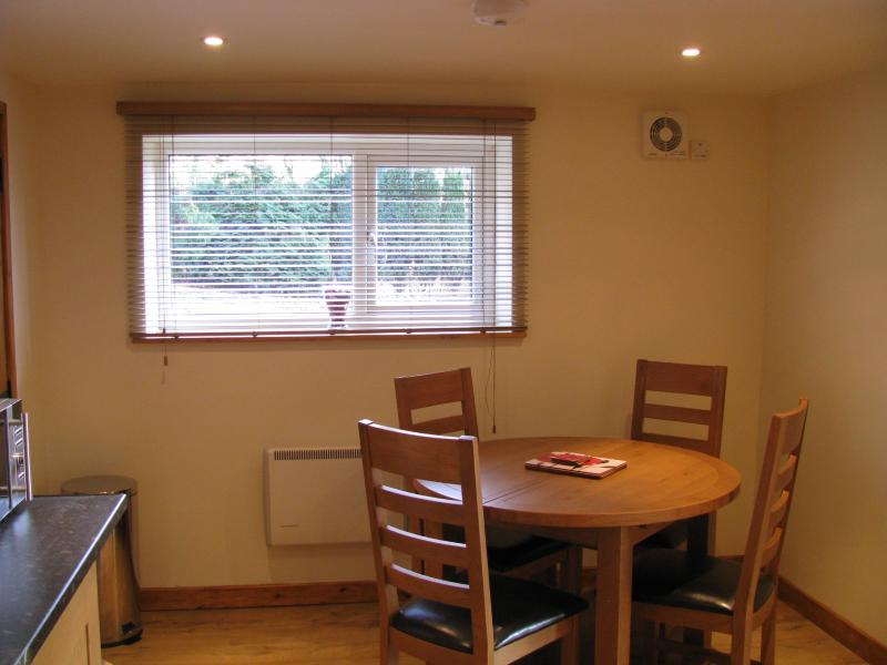 Comfortable dining area.