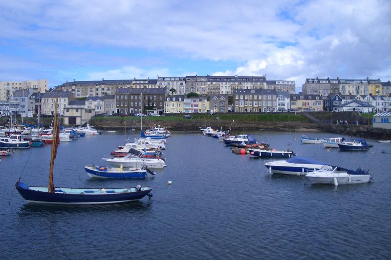 View of Kerr Street from Portrush Harbour