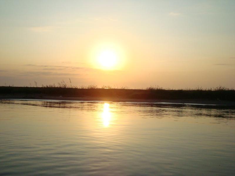 Lever du soleil à l'embouchure de l'Ebre