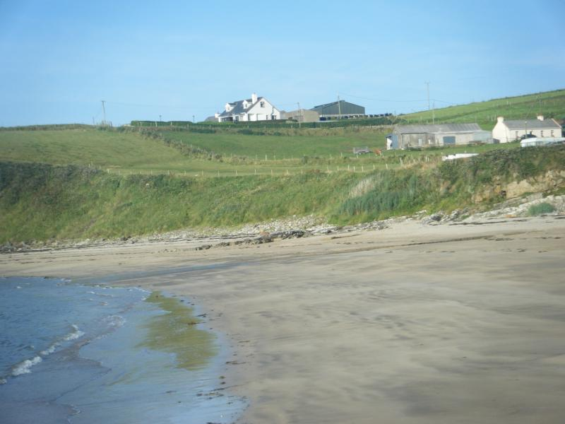 The cottage from the beach