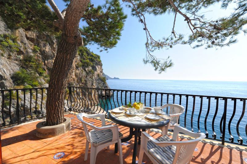 La Praia private terrace with view of the Mediterranean sea