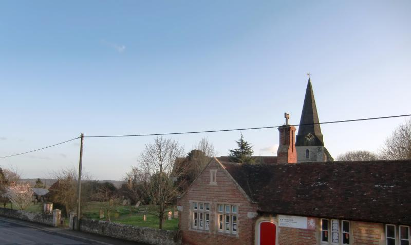 View of the Church and village school from Bedroom 1