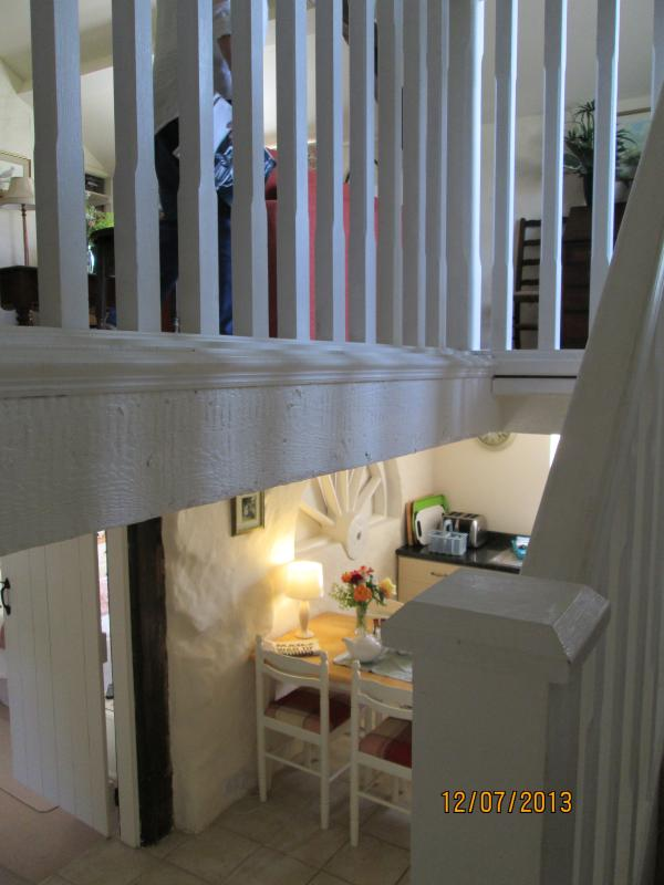 Upstairs - downstairs ! View from the stairs leading to upstairs sitting room