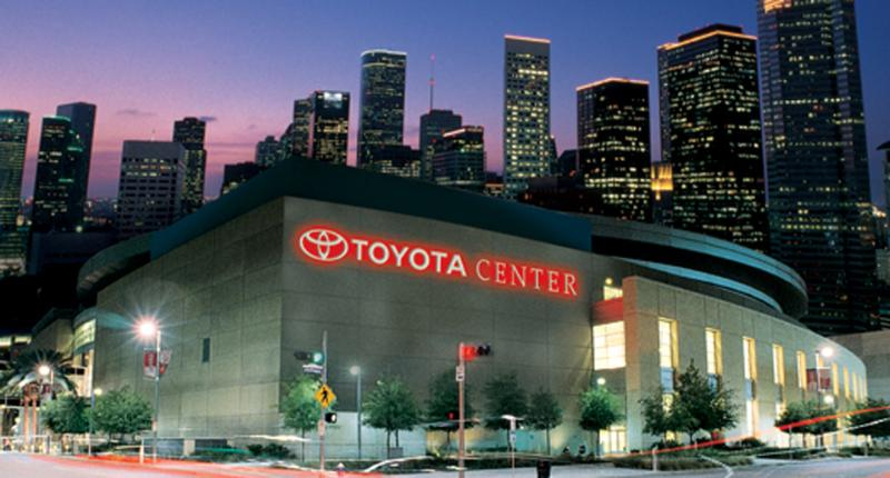 The Rockets will host the Chicago Bulls on 2/3/2016 during the Superbowl. The center is 1.8 miles