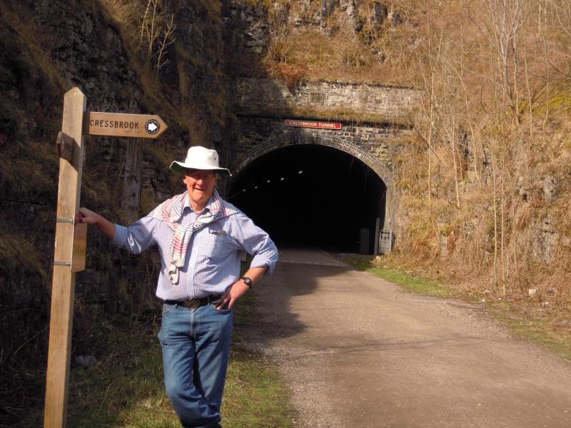 A tunnel on the Monsal Trail - walk or hire a bike