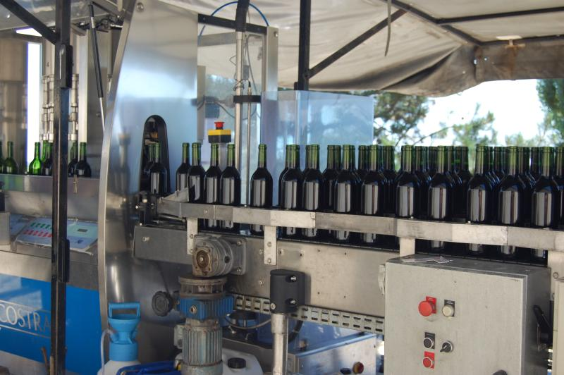 Bottling at the Domaine