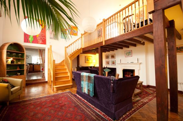 Spacious sitting room with mezzanine