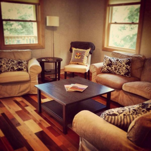 Spacious and comfortable living room. Open floor plan.