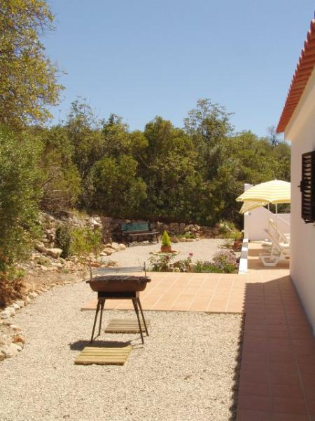 BBQ area, the rear terrace and garden