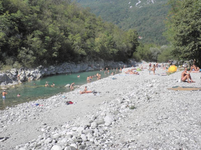 Swimming in the river Nadiza