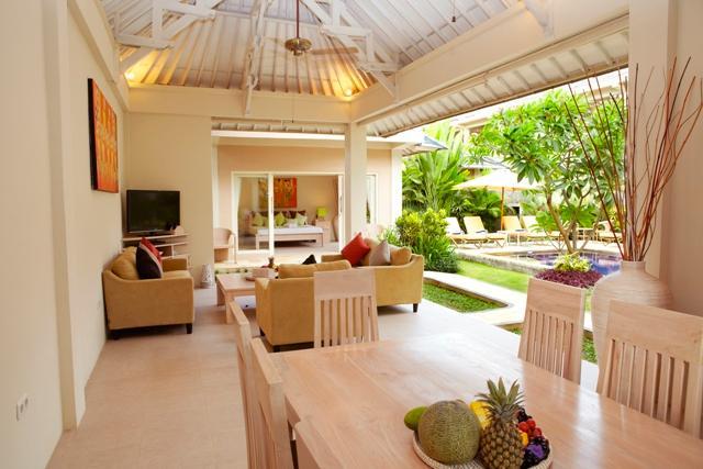 Garden Pool Villas Three Bedroom - Living and Dining Room