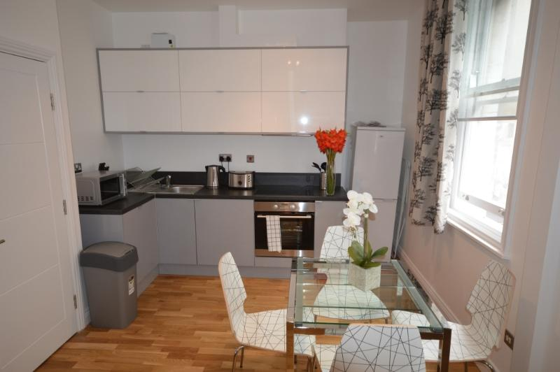 Kitchen/Dining area with double sofabed