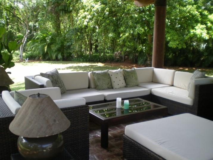 Outdoor entertainment area from different angle