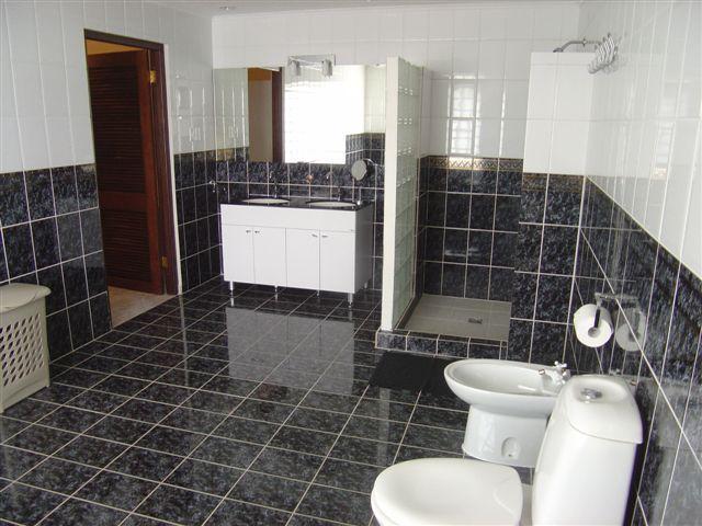 Spacious bathroom first floor.