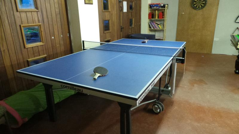 Games room with table tennis table, slatebed snooker/pool table, table football, wii in games room