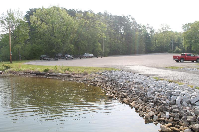 Parkering på andra creek boat ramp