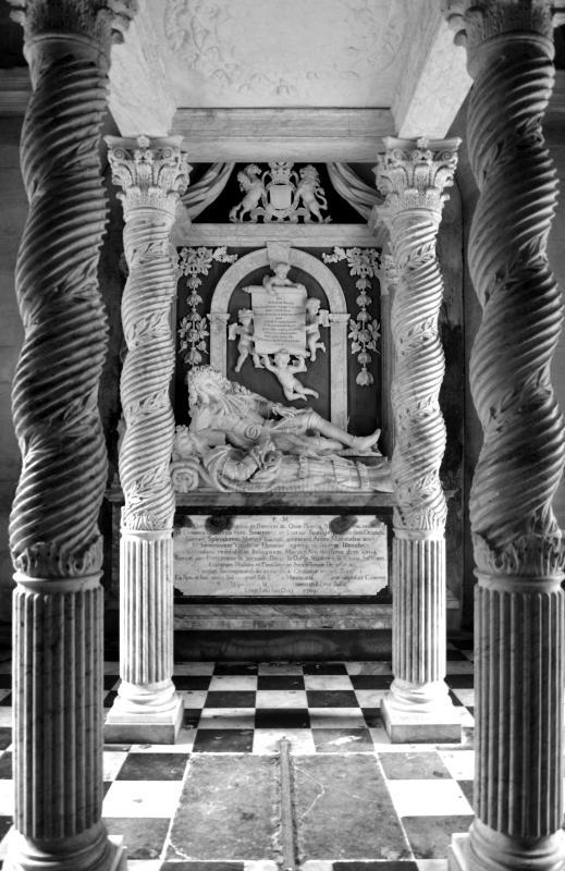 The stunning Queensberry Marbles inside Durisdeer Church