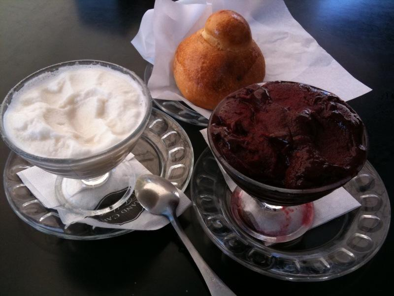Acireale Granita with almond brioche