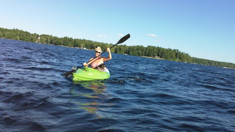 Maine Cabin Rental Kayaking from Crooked River to Brandy Pond