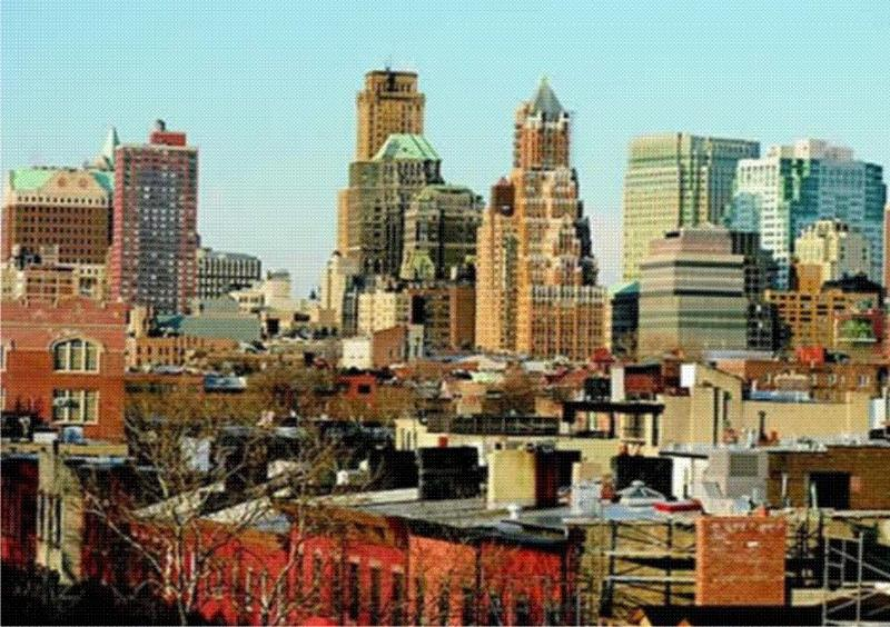 Your Roof top View of downtown Brooklyn and Manhattan.
