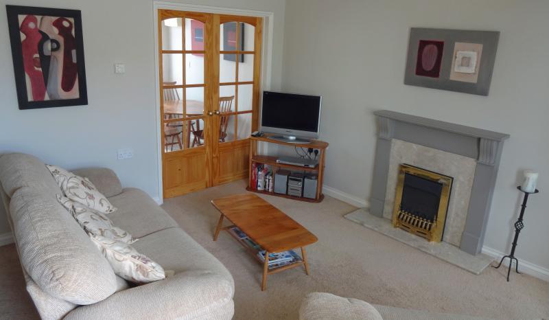 Living room with contemporary original art