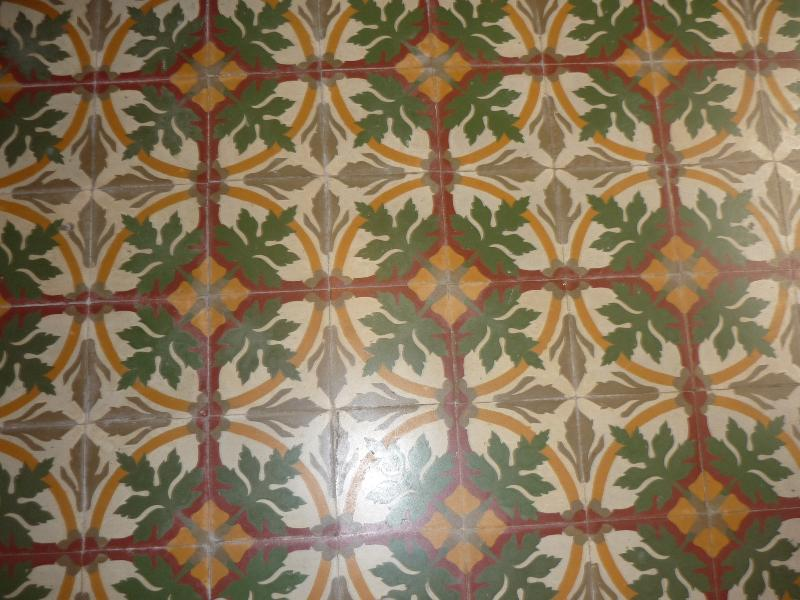 Antique floor tiles from 1915 - a unique hydraulic cement technique that still looks new!