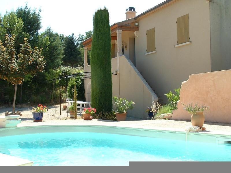 La Gouiranne, swimming pool and villa