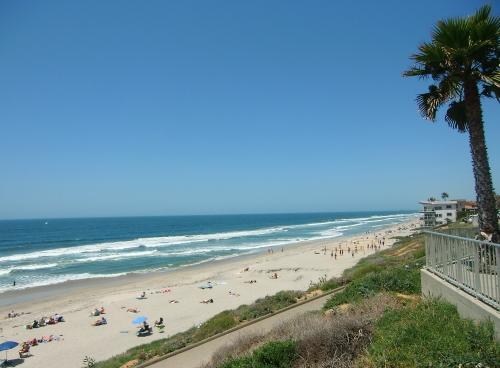 Carlsbad Beach across the street