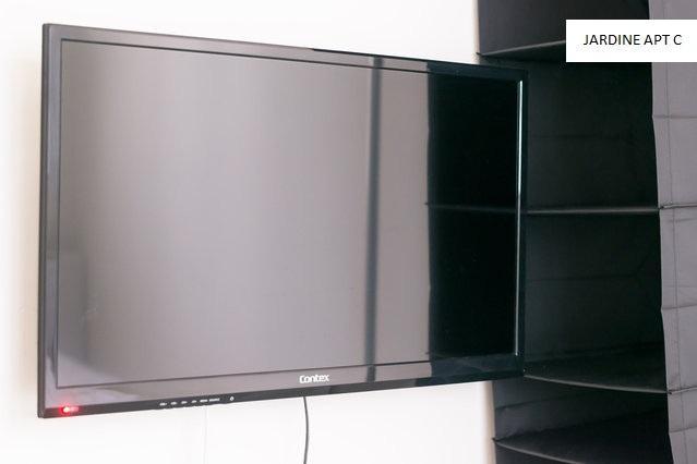 Hanging closet and 34' TV