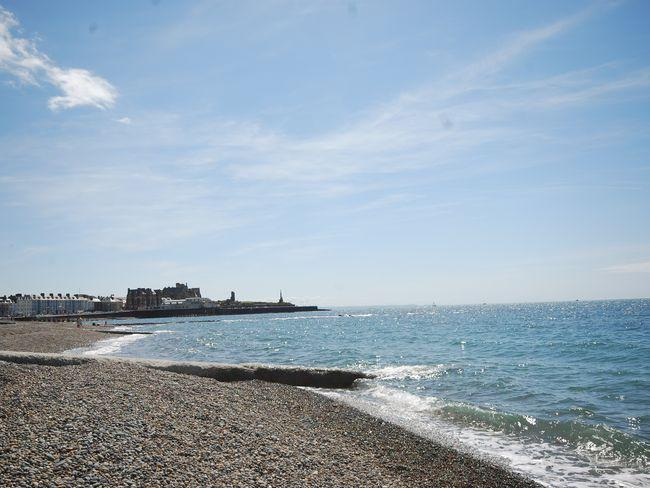 Spend the day at Aberystwyth beach during your stay