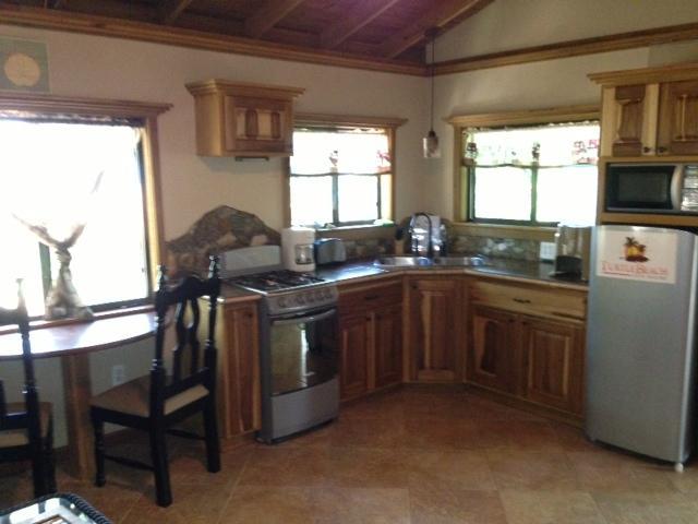 Full stainless steel kitchen!
