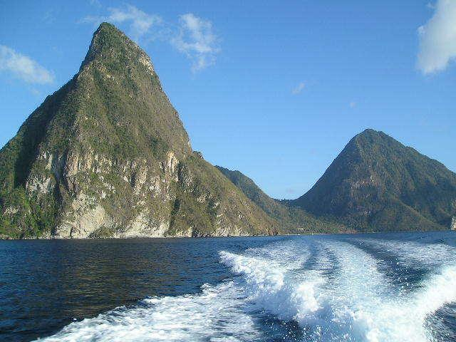 Boat Trip leaving The Pitons