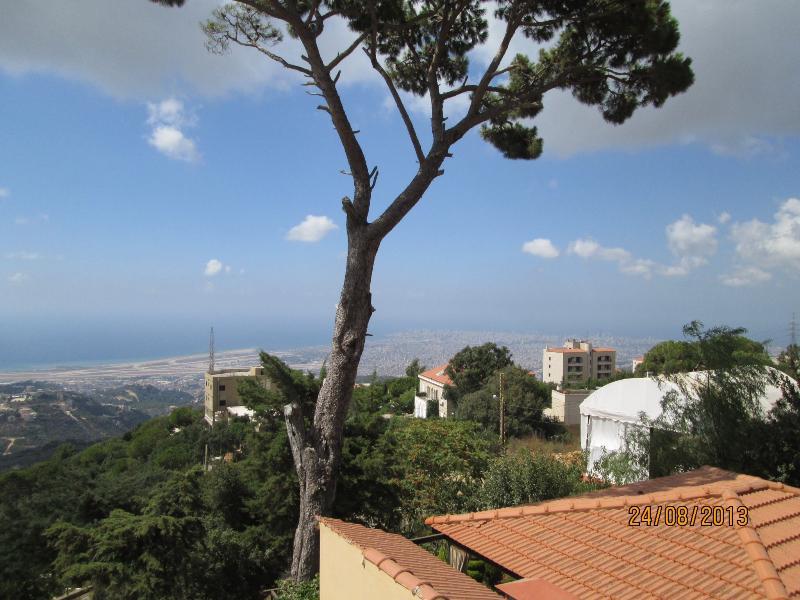 Entouré de pins et d'oliviers, mais facilement à Beyrouth, la plage et les montagnes.