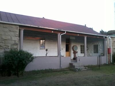 Private enclosed backyard with large stoep, braai