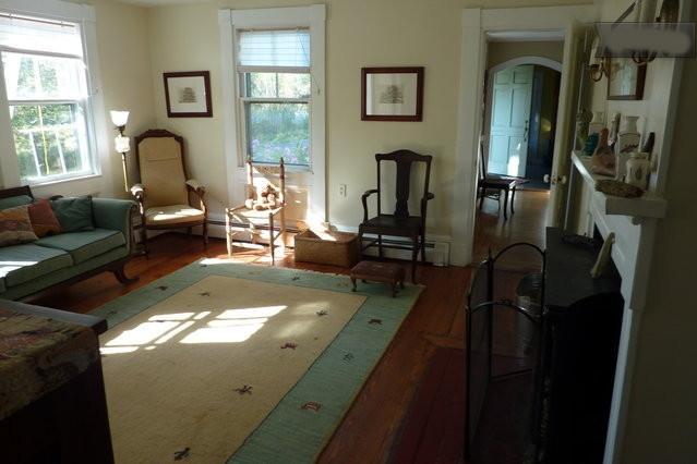 Livingroom with door looking into diningroom