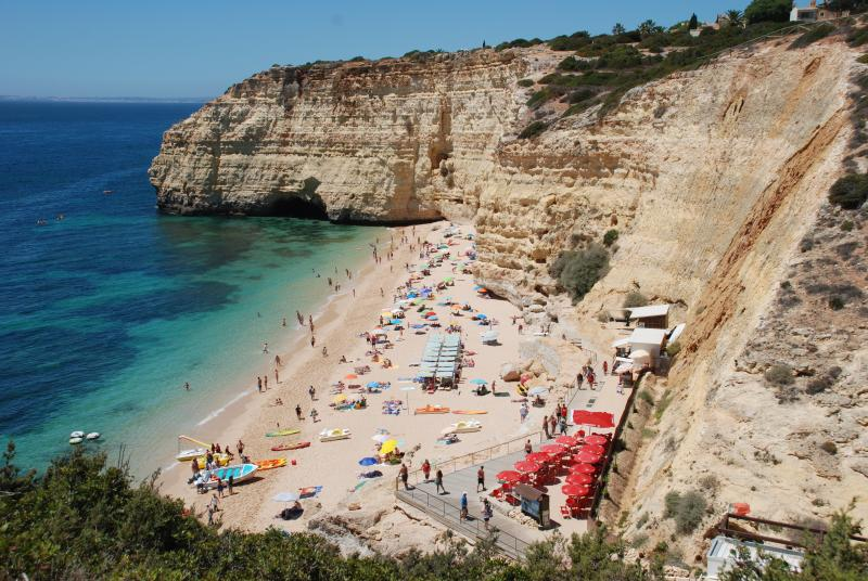 Cliff view of Centianes beach..